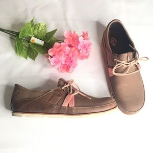 Chaco Harper lace up caribou leather shoes 11